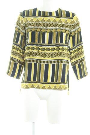 H&M Langarm-Bluse Aztekenmuster Casual-Look