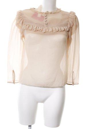 H&M Langarm-Bluse beige Business-Look