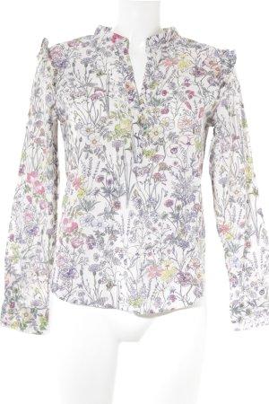 H&M Langarm-Bluse Blumenmuster Casual-Look