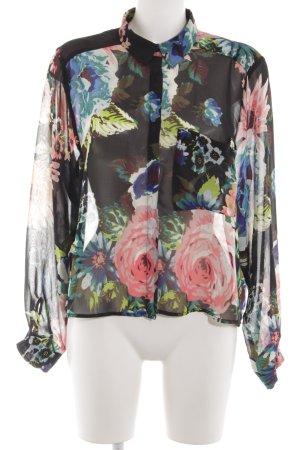 H&M Langarm-Bluse Blumenmuster Elegant
