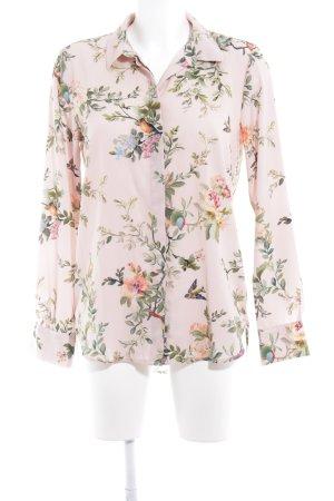 H&M Langarm-Bluse Blumenmuster extravaganter Stil