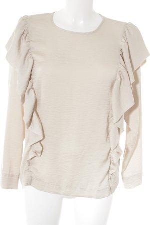 H&M Langarm-Bluse creme Casual-Look