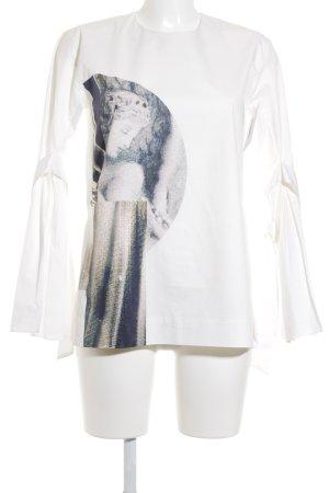 H&M Langarm-Bluse creme extravaganter Stil