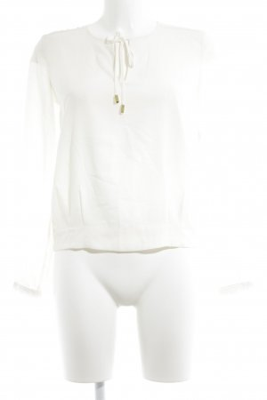 H&M Langarm-Bluse creme-goldfarben Business-Look