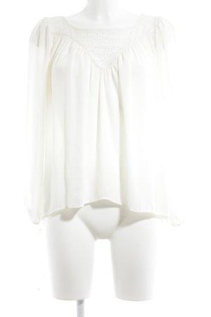H&M Blouse à manches longues crème style romantique
