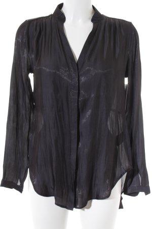 H&M Langarm-Bluse dunkelblau-graublau Schimmer-Optik