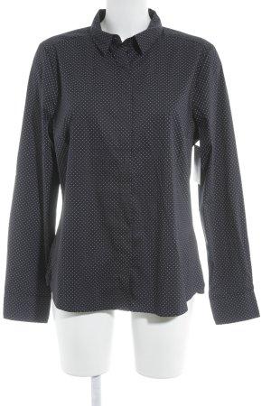 H&M Langarm-Bluse dunkelblau-himmelblau Business-Look