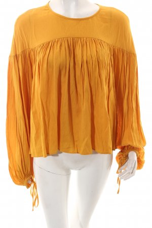 H&M Langarm-Bluse dunkelgelb Casual-Look