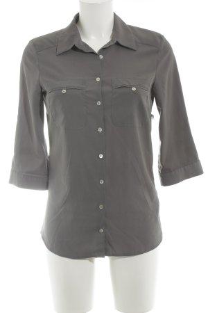 H&M Langarm-Bluse dunkelgrau Business-Look