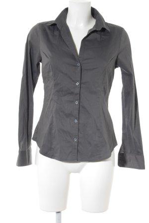 H&M Blouse à manches longues gris foncé style classique