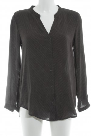 H&M Langarm-Bluse dunkelgrau Punktemuster Casual-Look