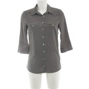H&M Langarm-Bluse dunkelgrau schlichter Stil
