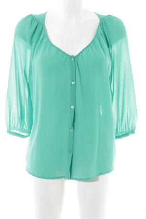 H&M Blouse à manches longues turquoise style décontracté