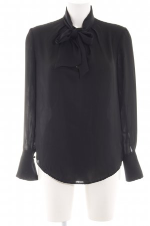 H&M Langarm-Bluse schwarz Business-Look