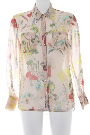 H&M Langarm-Bluse florales Muster schlichter Stil