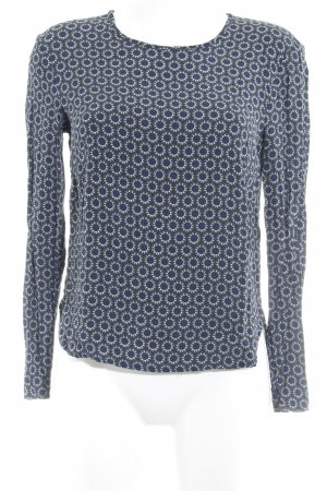 H&M Langarm-Bluse grafisches Muster Casual-Look