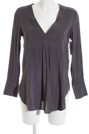 H&M Langarm-Bluse grau Elegant