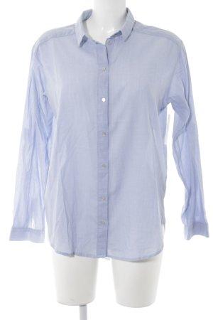 H&M Langarm-Bluse hellblau Casual-Look