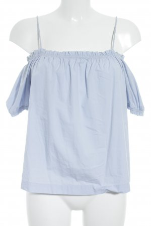 H&M Langarm-Bluse himmelblau minimalistischer Stil