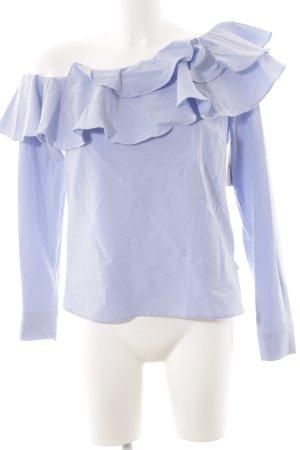 H&M Langarm-Bluse himmelblau Romantik-Look