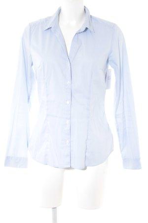 H&M Langarm-Bluse himmelblau-weiß Streifenmuster Business-Look