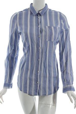 H&M Langarm-Bluse himmelblau-weiß Streifenmuster Casual-Look