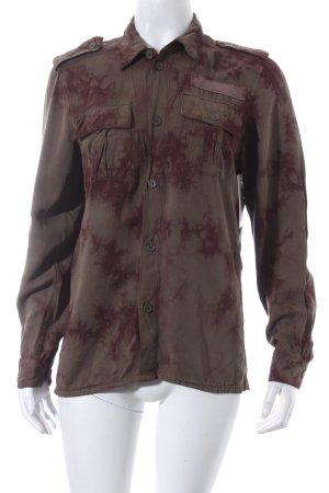 H&M Langarm-Bluse khaki-braunviolett Military-Look