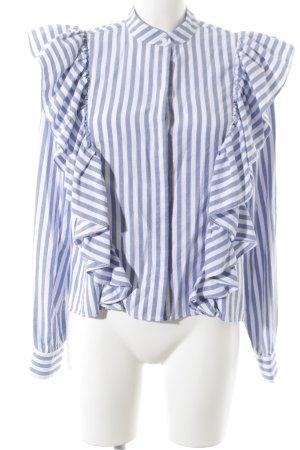 H&M Langarm-Bluse kornblumenblau-weiß Streifenmuster Beach-Look