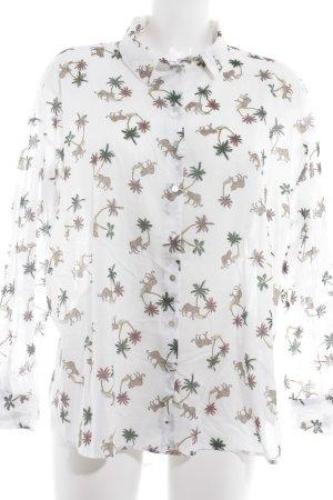 H&M Langarm-Bluse Motivdruck Street-Fashion-Look