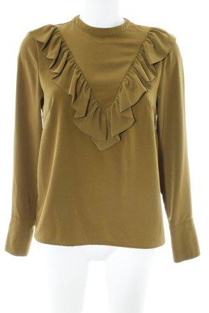 H&M Langarm-Bluse olivgrün Casual-Look