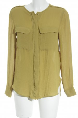 H&M Long Sleeve Blouse olive green casual look