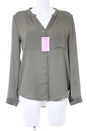 H&M Langarm-Bluse olivgrün Elegant
