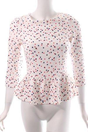 H&M Langarm-Bluse Punktemuster