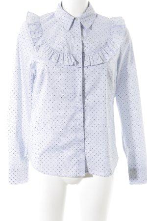 H&M Langarm-Bluse Punktemuster Elegant