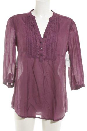 H&M Langarm-Bluse purpur Casual-Look