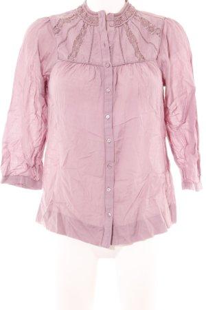 H&M Langarm-Bluse rosa Street-Fashion-Look