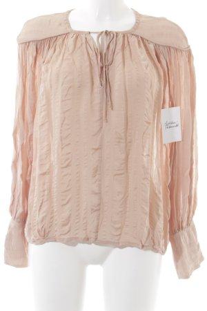 H&M Langarm-Bluse rosé Romantik-Look
