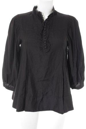 H&M Langarm-Bluse schwarz klassischer Stil