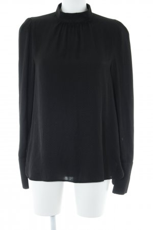 H&M Langarm-Bluse schwarz Punktemuster Casual-Look
