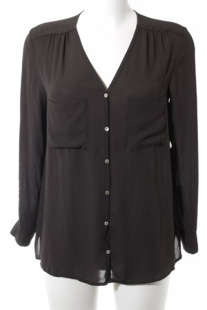 H&M Langarm-Bluse taupe Casual-Look