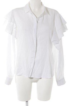 H&M Langarm-Bluse weiß Business-Look