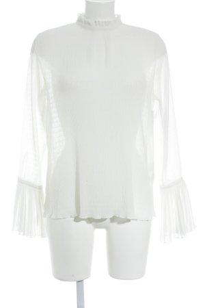 H&M Langarm-Bluse weiß Elegant