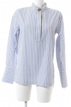 H&M Langarm-Bluse weiß-hellblau Streifenmuster Casual-Look