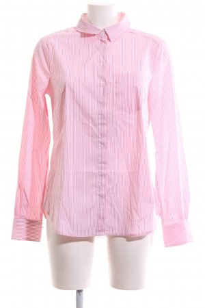 H&M Langarm-Bluse weiß-pink Streifenmuster Casual-Look
