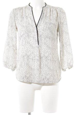 H&M Langarm-Bluse weiß-schwarz Elegant