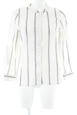 H&M Langarm-Bluse wollweiß-dunkelblau Streifenmuster Casual-Look
