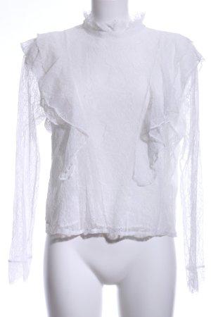 H&M Langarm-Bluse wollweiß Elegant