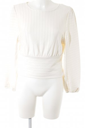 H&M Langarm-Bluse wollweiß Street-Fashion-Look