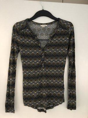H&M langarm Shirt Ethno Muster Blumen Gr. 34