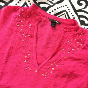 H&M Blouse en crash magenta